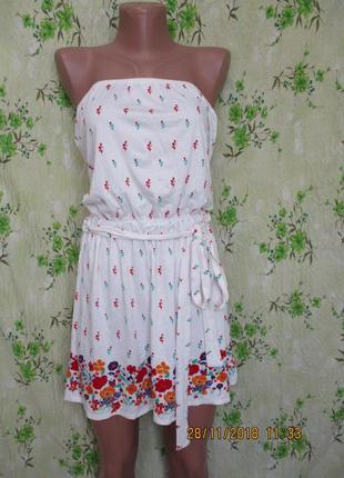 Красивое платье туника в цветочный принт uk 12-14/46-48 размер