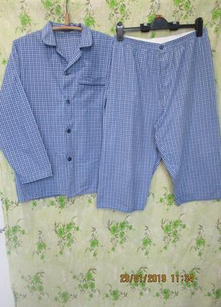 Пижама/домашний костюм рубашка и шорты/бриджи/клетка