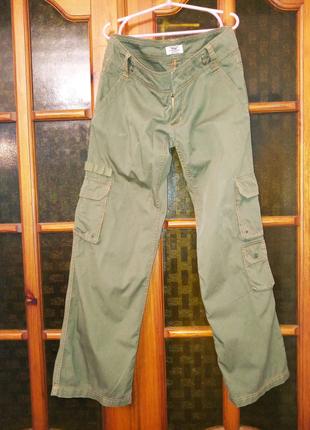 Брюки карго Xdye от Pull&Bear, стиль милитари, 48 р