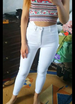 Белые штаны летние, новые с фирменного магазина 72% бавовна