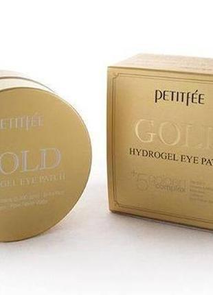 Гидрогелевые патчи под глаза Petitfee Gold с золотом  Корея