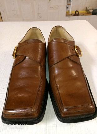 Туфли мужские коричневые черные 42,44 размер кожаные