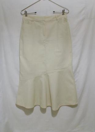 Новая юбка годе светло-желтая текстурная *laroque* 46р