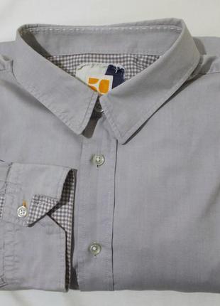 Рубашка светло-серая *hugo boss orange* 52-54р