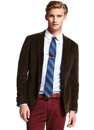 Пиджак коричневый плотный вельвет *tommy hilfiger* 50р