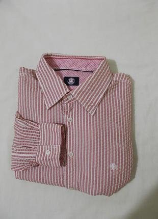 Новая рубашка текстурная *strellson* швейцария xl 52-56р