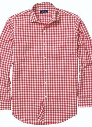 Новая рубашка в мелкую клетку *polo by ralph lauren* xxl 56-60р