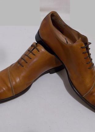 Туфли оксфорды ручной работы коньячного цвета *magnanni* 45р