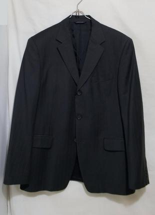 Пиджак темно-серый тонкая шерсть *banana republic gap* 52-54р