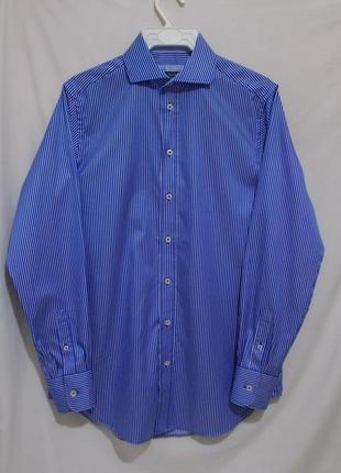 Новая рубашка дизайнерская в синюю полоску люкс *paul costello...