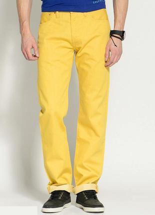 Джинсы лимонного цвета w34 l32 *levis 517*