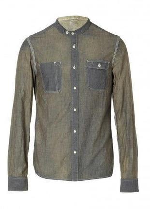 Новая рубашка серая all saints allsaints rivette l/s shirt l 50р