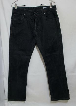Новые джинсы черные прямые делаве w32 l30 *jack & jones*
