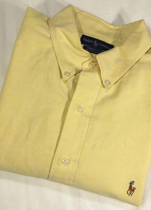Рубашка плотная желтая *polo by ralph lauren* yarmouth 56-60р