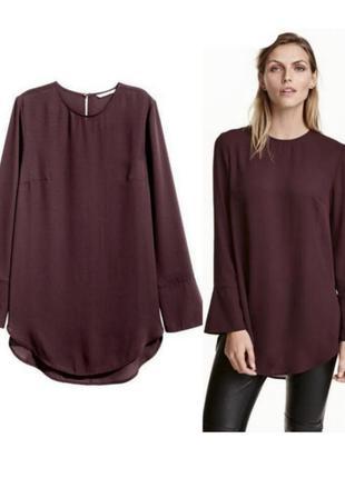 Блуза туника, удлиненная блузка, туника с разрезами
