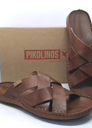 Шикарные полностью кожаные шлепанцы сандалии pikolinos guero о...