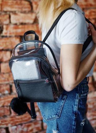 Черный рюкзак силиконовый рюкзак прозрачный рюкзак прозрачный ...