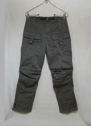 Дизайнерские брюки карго хаки *marithe francois girbaud* 46р