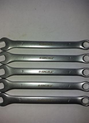 Ключ рожково-накидной 7мм CrV satine Sigma