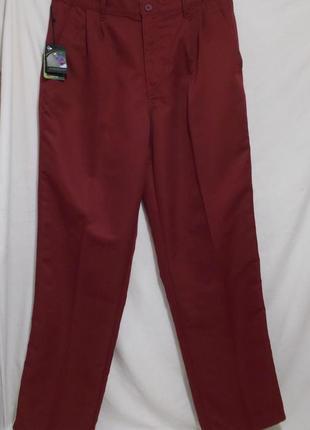 Новые брюки для гольфа бордовые w34 *dunlop*