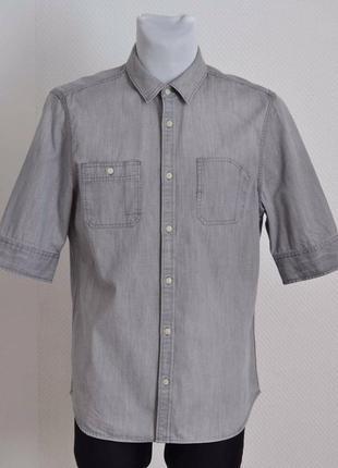 Рубашка как новая джинсовая серая *allsaints* 'origin hs shirt...