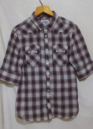 Рубашка легкая в клетку *allsaints* 'deadwood 1/2 slv shirt' 4...