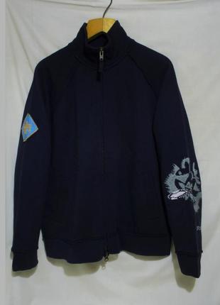 Кофта на молнии плотная темно-синяя *french connection* 48-50р