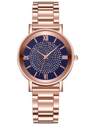 Женские часы с золотистым браслетом код 649