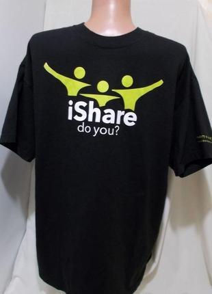 Новая футболка черная с оригинальным принтом 54-56р