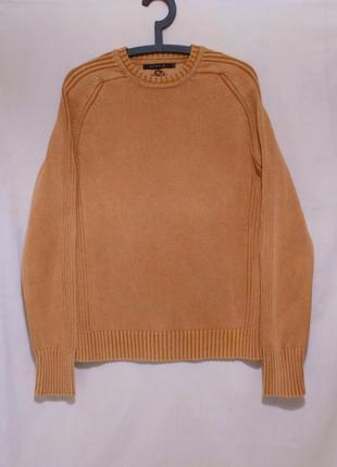 Новый свитер мытого абрикосового цвета *conbipel* италия 48-50р