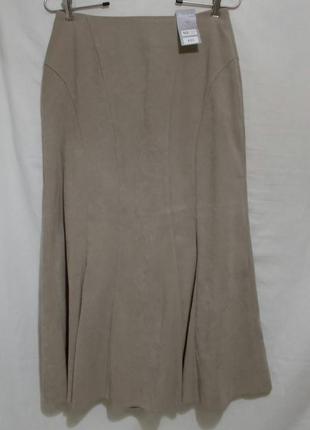 Новая юбка годе бежевая под замшу *berkertex* 46-48р