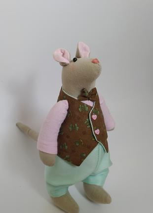 Текстильная игрушка Крыс ручной работы