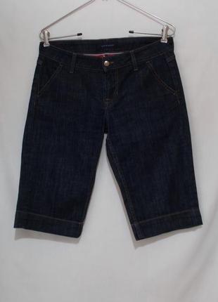 Капри до колена джинсовые синие индиго w29 *tommy hilfiger denim*
