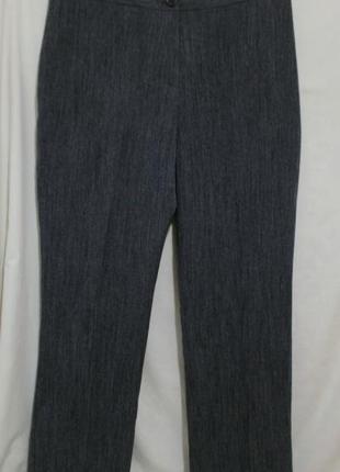 Новые брюки прямые серые меланж *marks & spencer* 48-50р