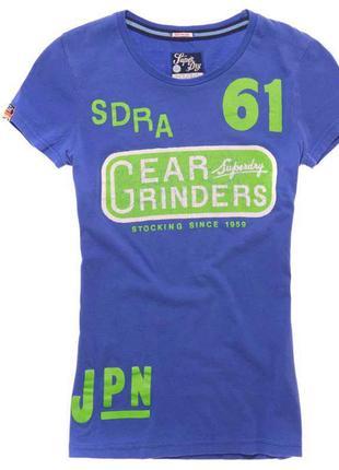 Футболка фиолетовая винтажный принт *superdry* 42-44р
