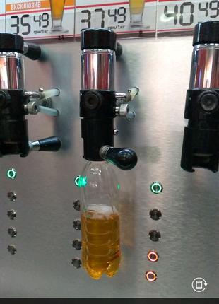 Оборудование для розлива пива в ПЭТ бутылки.