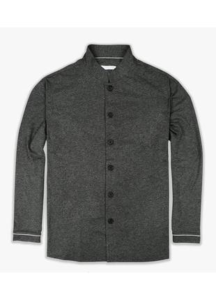Рубашка пижамная трикотаж класса люкс серая 'pye' 48-52р