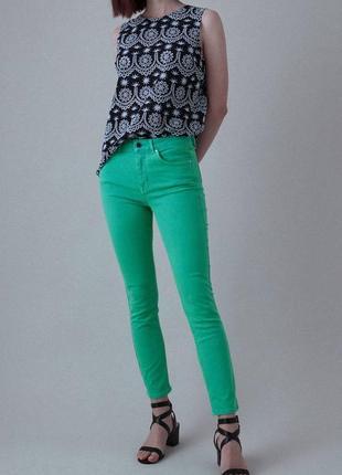 Новые джинсы слим бирюзовые w29 l32 *garcia jeans* италия