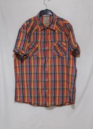 Рубашка яркая легкая мятая тертая 'scotch & soda' 54-56р