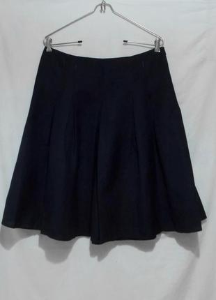 Новая юбка-клинка легкая льняная синяя 'l.k.bennett' 48-50р