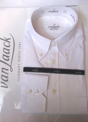Рубашка статусная деловая белая *van laack* royal 50-52р