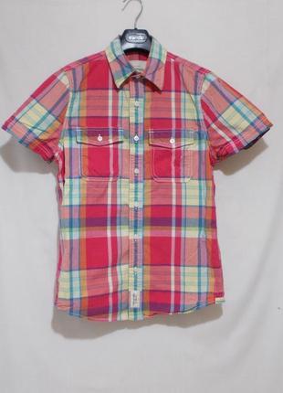 Рубашка в крупную клетку *abercrombie & fitch* 44-48р