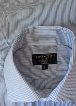 Рубашка статусная в полоску под запонки *crombie* 50-52р