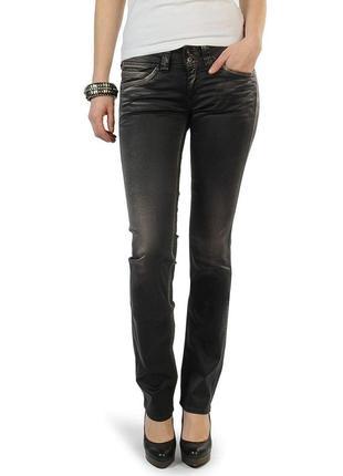 Новые джинсы прямые атласные легкие w28 l34 *pepe jeans london...