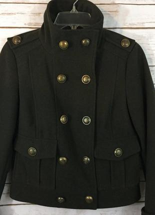 Новый двубортный мундир куртка-жакет болотного цвета 'zara' 46р