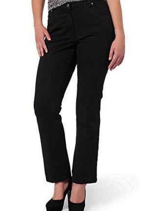 Новые джинсы батал прямые черные *ulla popken* пояс 140-150см