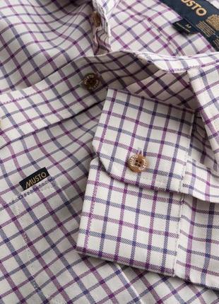 Рубашка из твила белая в клетку *musto* 44-48р