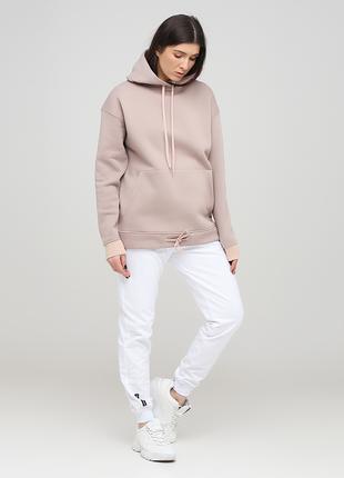 """Белые демисезонные брюки - джоггеры """"Only Women""""(высокий рост)"""