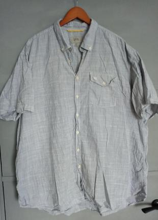 Рубашка большого размера. рубашка с коротким рукавом. шведка. ...