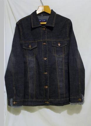 Новая куртка джинсовая серая с опушкой *east coast by evans* 5...